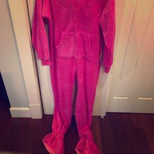 Hooded Pink Onesie